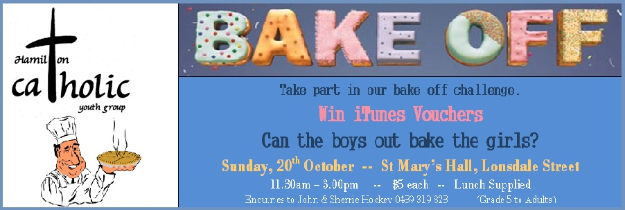 Youth Group Bake Off – Sunday 20th of October