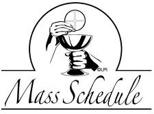 New Mass Schedule – Commencing Jun 2018