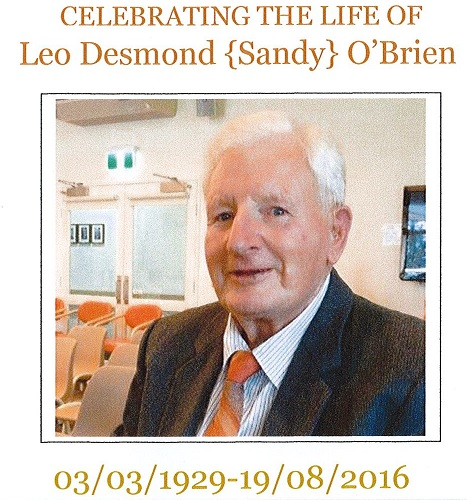 Generous Bequest From Sandy O'Brien