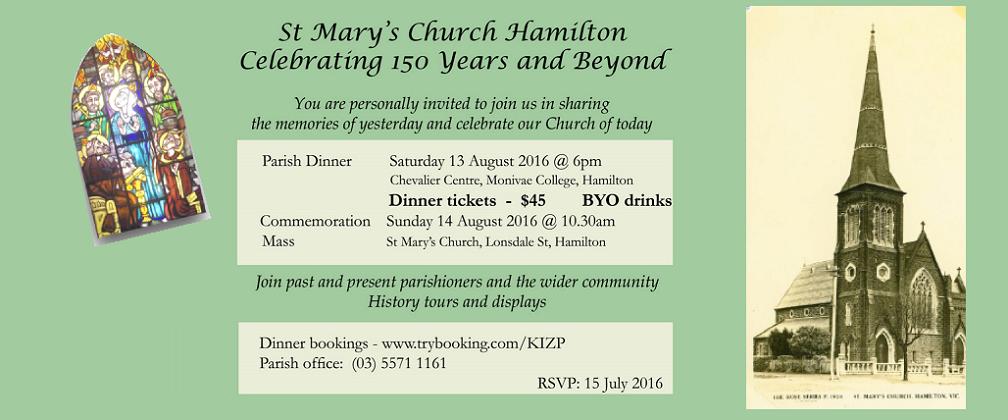 Celebrating 150 years of St Mary's Parish Life